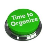 green button stating time to organize